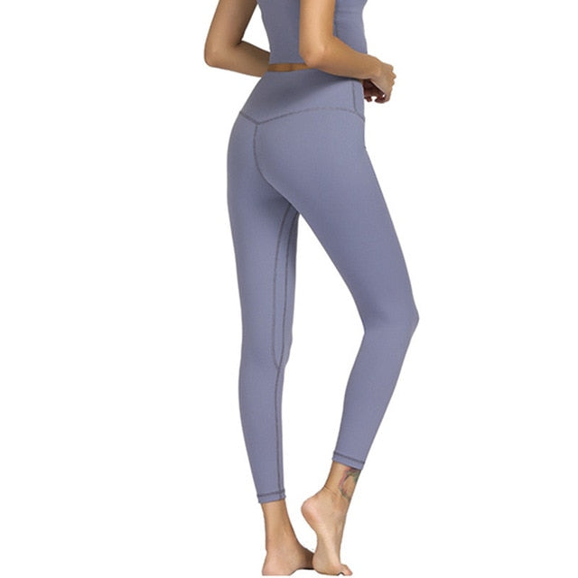 Silver High Waist Soft Yoga Pants