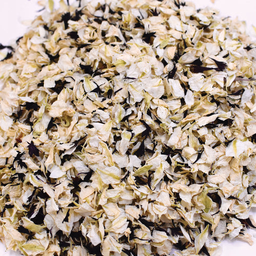 Black & Ivory Biodegradable Wedding Petal Confetti - 1 Litre (10-12 Handfuls)