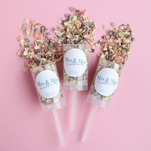 MRS & MRS Confetti Push Pops