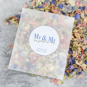 Mr and Mr Confetti Sachets