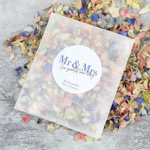 Mr and Mrs Confetti Sachets