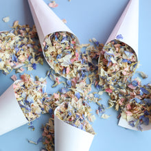 10 White Cones and Confetti