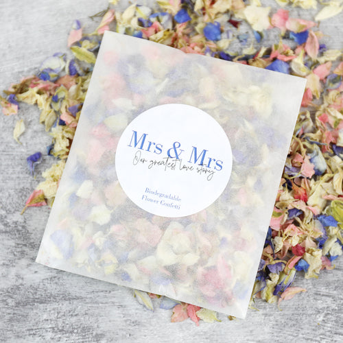 Mrs and Mrs Confetti Sachets