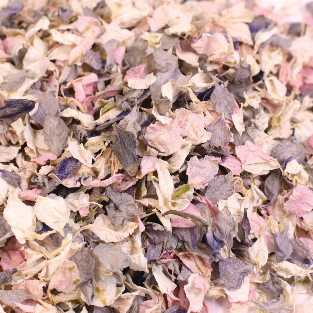 Vintage Pink, Grey & Ivory Biodegradable Wedding Petal Confetti - 1 Litre (10-12 Handfuls)