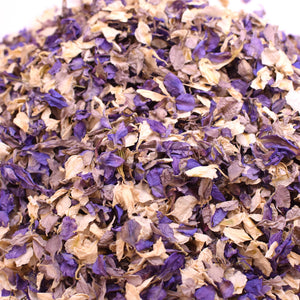 Purple, Grey & Ivory Biodegradable Wedding Petal Confetti - 1 Litre (10-12 Handfuls)