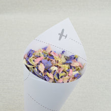 Confetti Cones Filled With Biodegradable Wedding Petal Confetti