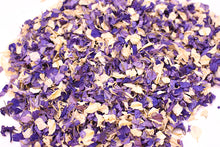 Cadbury Purple, Blue and Ivory Natural Petal Wedding Confetti