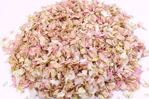 Vintage Pink/Ivory Natural Wedding Petal Confetti