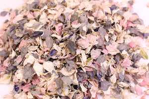 Vintage Pink/Grey/Ivory Natural Wedding Petal Confetti