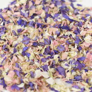 Pastel Lilac & Pink Biodegradable Wedding Petal Confetti - 1 Litre (10-12 Handfuls)