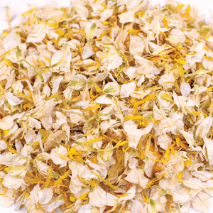 Yellow & Ivory Biodegradable Wedding Petal Confetti - 1 Litre (10-12 Handfuls)