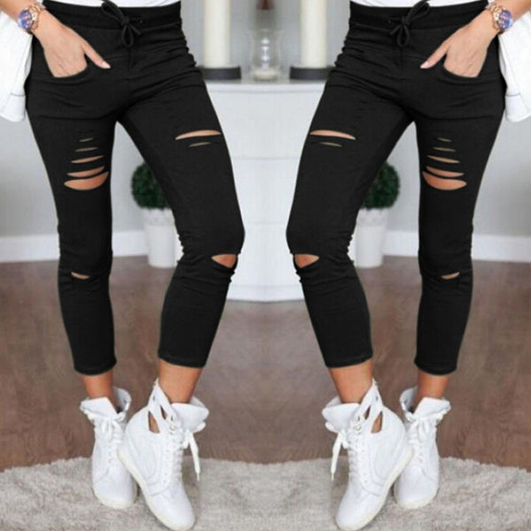 High waist Ripped Up Leggings