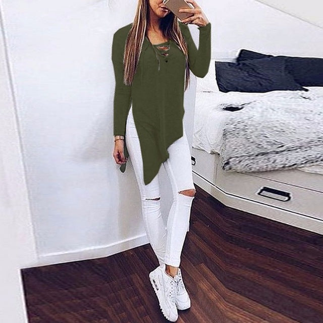 Long Sleeve Sexy Lace Up