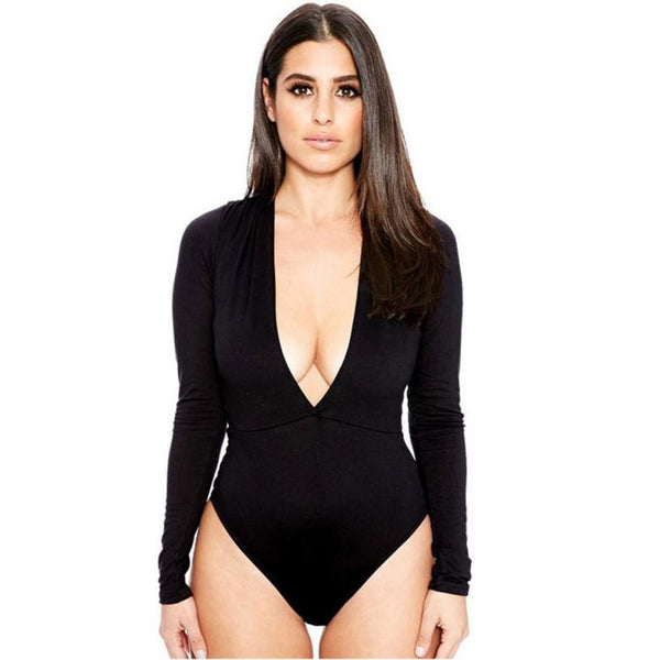 Deep V Neck Bodysuit