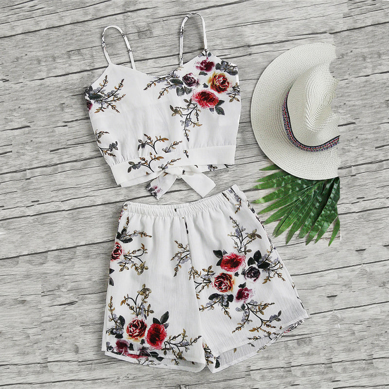 Floral On White Set