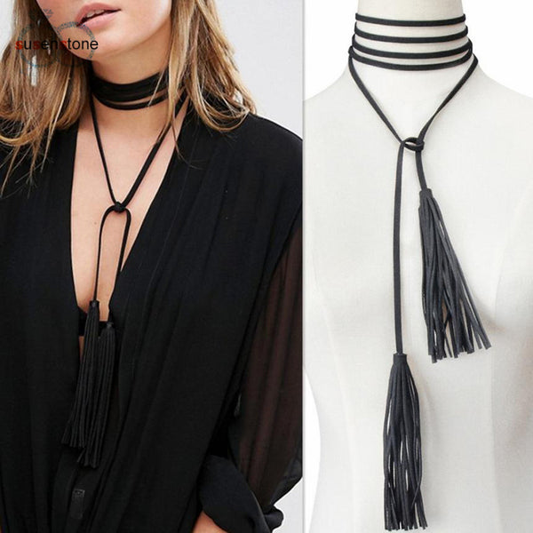 Flirty and Fringed Choker