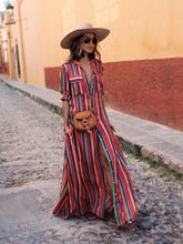 Load image into Gallery viewer, 2018 New Stripe Loose Maxi Long Dress