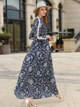 Load image into Gallery viewer, 2017-new-large-long-sleeved-printing-dress
