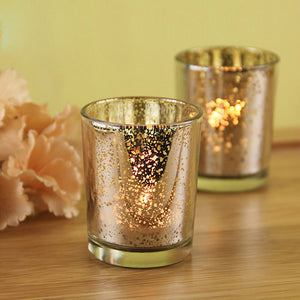2 color glass candle holder Xmas  Christmas party