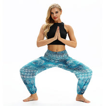 Load image into Gallery viewer, Printed National Style Foot Knickers Loose Fitness Yoga Pants