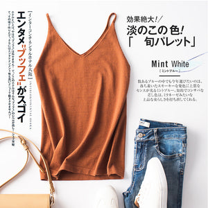 Sling Vest Women's Inner-to-base Shirt Out-of-the-shirt V-neck Sexy Out-of-the-box