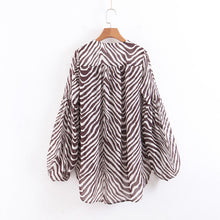 Load image into Gallery viewer, Zebra Spinning Long Sleeve Shirt for Women