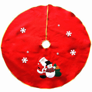 Christmas Santa Claus Tree Embroidery Decoration Ornaments Xmas Tree Apron