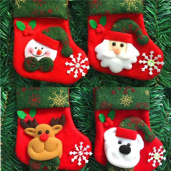 Christmas Decoration Socks Snowman Christmas   Elderly Bear Deer For Christmas Tree