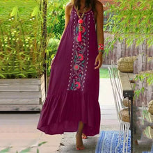 Load image into Gallery viewer, Retro Embroidered Bohemian Dresses with Large Suspenders Dress