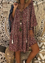 Load image into Gallery viewer, Boho Style Printed Loose Fitting Dress