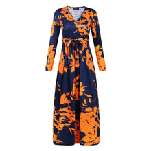 Load image into Gallery viewer, Fashion printed long-sleeved dress