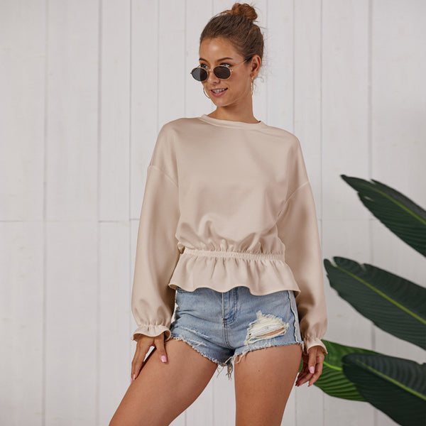 Original design new knit top sweater  fast fashion long sleeve