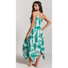 Load image into Gallery viewer, Sexy Printed Spaghetti Strap Irregular Beach Maxi Dress