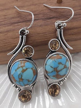 Load image into Gallery viewer, Natural Stone Fashion Jewelry Family Style Long Earrings
