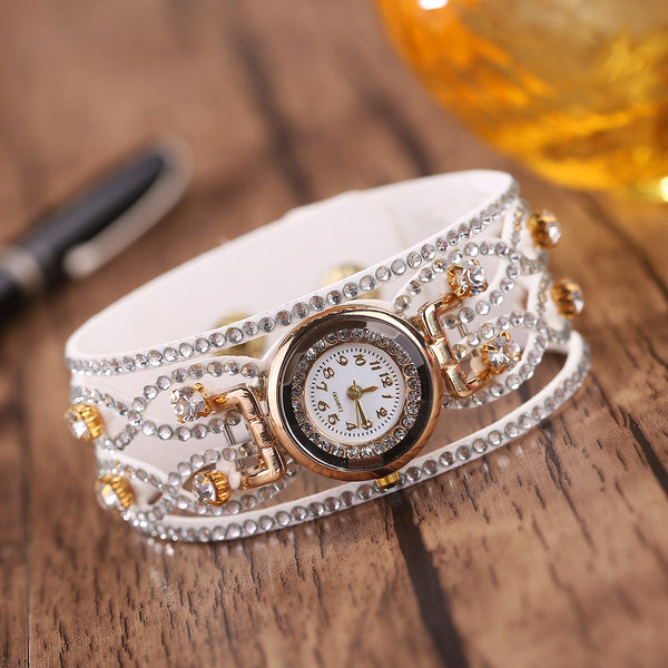 Korean Women Fashion Watch Diamond Bracelet Quartz Watch