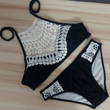 Load image into Gallery viewer, Sexy Lace Beach Swimwear Bikini Two Pieces Set