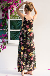 2018 Summer Sleeveless Floral Print Beach Maxi Dress