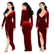 Load image into Gallery viewer, Gold velvet fabric hot sale party party dress 4 Colors
