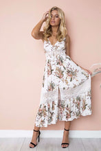 Load image into Gallery viewer, Sexy Vacation Style Printed Beach Strap Long Dress
