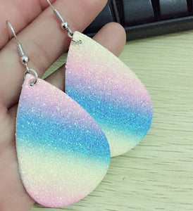 Colorful Frosted Sequins Drop Leather Earrings