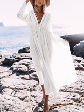 Load image into Gallery viewer, Lace Beach Holiday Sunscreen Long Dress