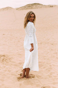 Lace Beach Holiday Sunscreen Long Dress