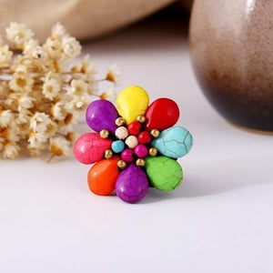 Bohemian Beach Hand-woven Flower Ring
