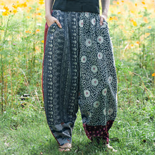 Load image into Gallery viewer, Ethnic Style Printed Stitching Wide-leg Pants