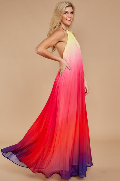 Halter Backless Beach Boho New Maxi Dress