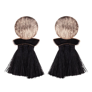 High quality vintage handmade tassel pendant long stud earring for women ear party jewelry