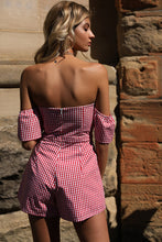 Load image into Gallery viewer, Off Shoulder High Waist Jumpsuit Rompers