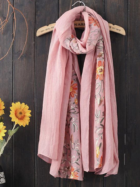 Vintage Embroidery Ethnic-style Scarf
