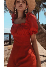 Load image into Gallery viewer, Bohemian Beach Lantern Sleeves Solid Color Jumpsuit