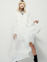 Load image into Gallery viewer, National Bohemia Inwrought Long Sleeve V Neck Beach Long Dress
